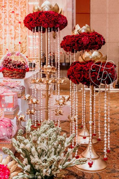Photo of Red and Gold decor theme
