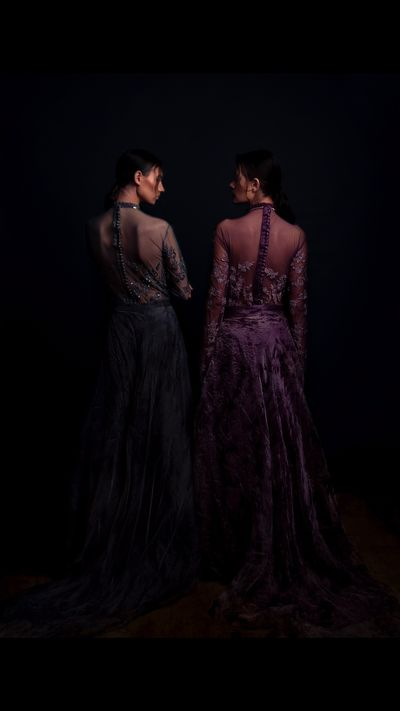 Photo of Back gown designs