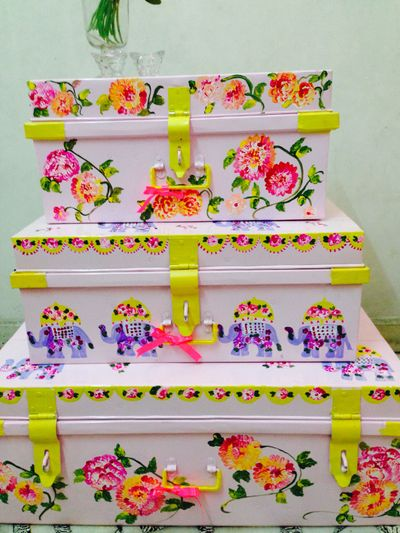 Photo of hand painted trunks