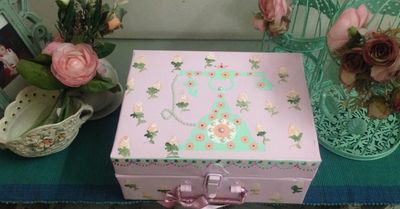 Photo of floral painted trunks