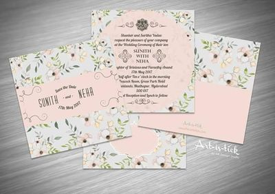 Photo of Floral wedding invite!