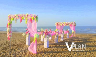 Photo of decor for beach wedding