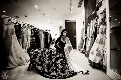 Photo of black lehenga