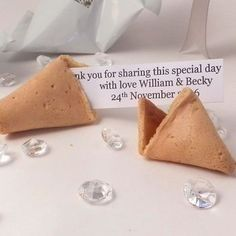 Photo of Unique fortune cookie thank you note for guests