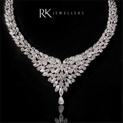 Photo of diamond bridal necklace