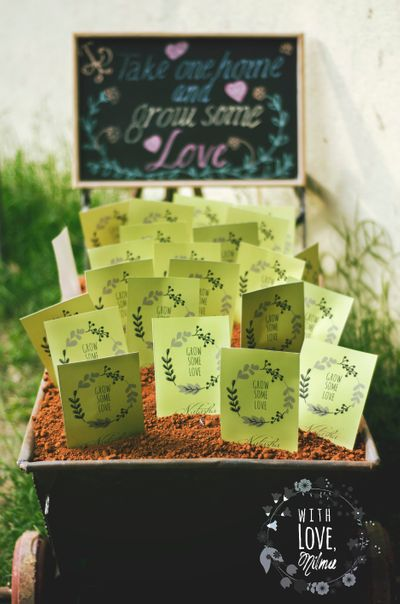 Photo of give seeds and saplings as wedding favors to your guests