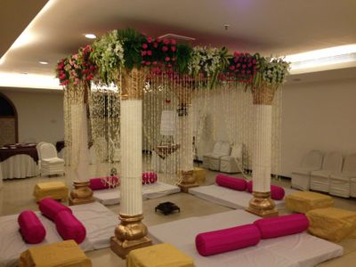 Photo of floor sitting mandap