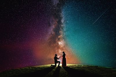 Photo of Beautiful proposal shot against a lovely sky