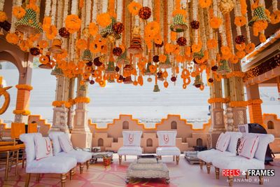 Photo of Stunning floral decor for mandap