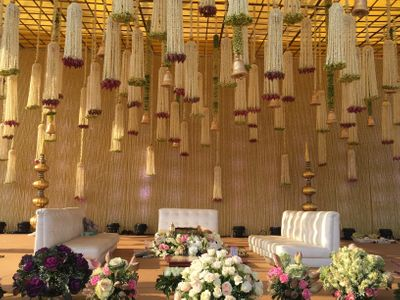 Photo of Hanging Floral strings and bells decor