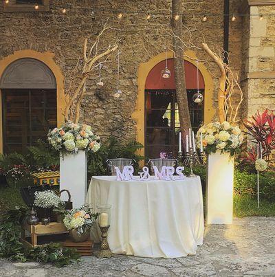 Photo of Floral decor with unique elements