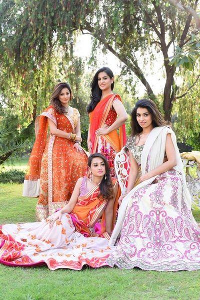 Photo of beautiful bridesmaids lehengas