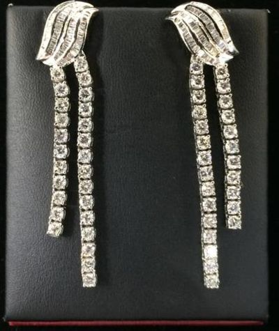 Photo of diamond earrings