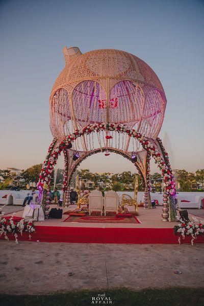 Photo of Floral dome unique mandap