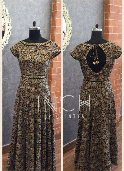 Photo of Black and Copper Floor Length Anarkali