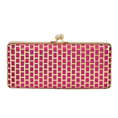 Photo of pink and gold clutch
