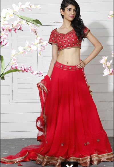 Photo of red light lehenga