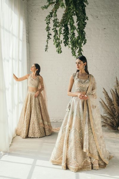 Photo of Pastel bridal lehengas for brides