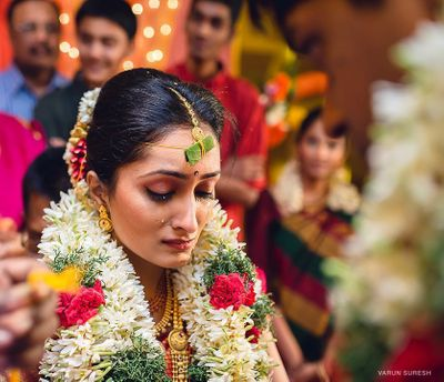 Photo of South indian bridal portrait
