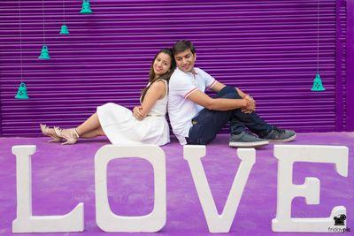Photo of LOVE pre wedding shoot