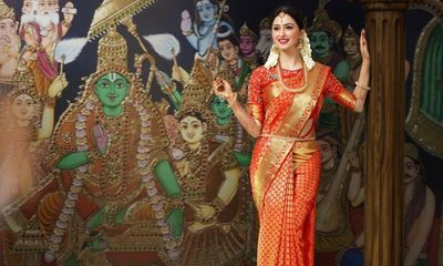 Photo of Classic red and gold kanjeevaram for south indian brides