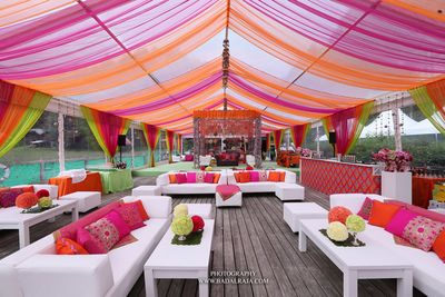 Photo of Pink and Orange Canopy Tent
