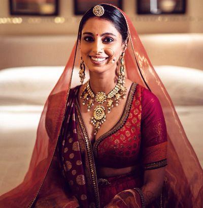 Photo of Minimal and classy bridal portrait!