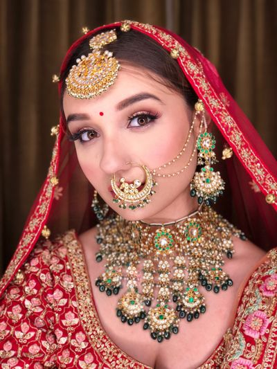 Photo of A bride in unique jewellery