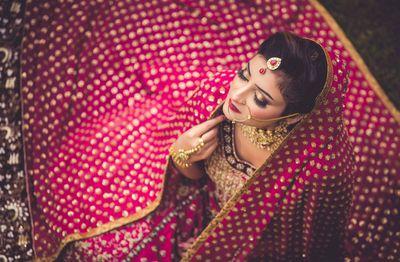Photo of Bridal portrait top shot idea