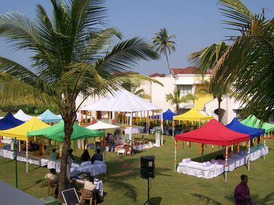Photo of colourful huts