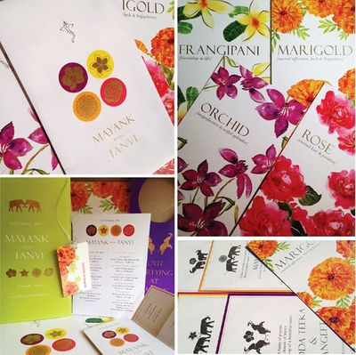 Photo of colorful invitation