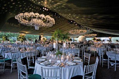 Photo of glamorous table seating