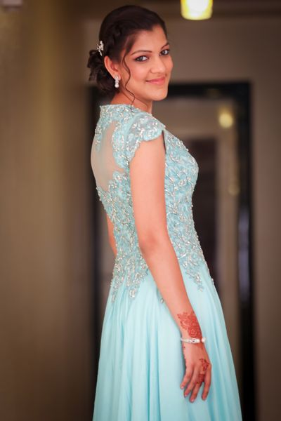 Photo of pale blue gown