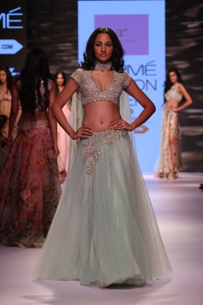 Photo of Seafoam blue lehenga