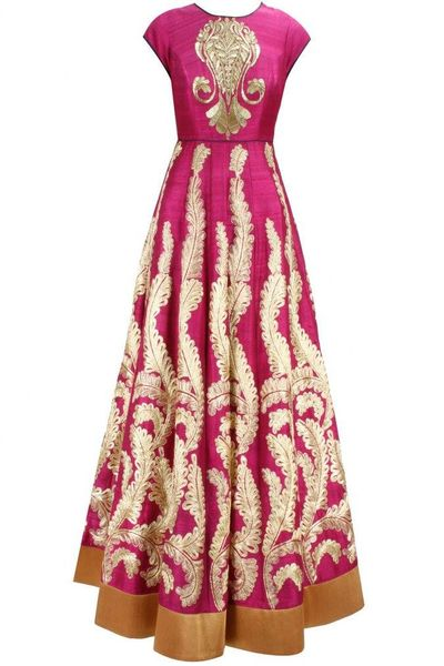 Photo of hot pink anarkali