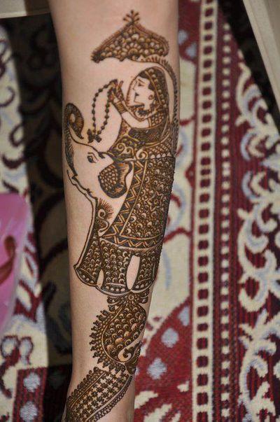Photo of arm mehendi designs