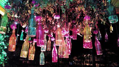 Photo of hanging bottles