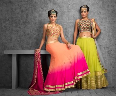 Photo of shaded lehenga