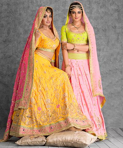 Photo of mustard yellow lehenga