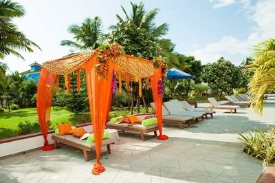 Photo of orange mandap