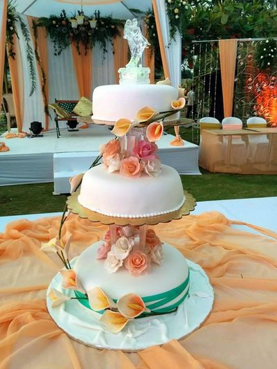 Photo of three tier wedding cakes