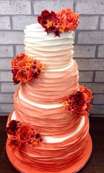 Photo of ombre cake