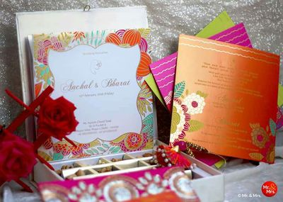 Photo of Colorful Indian Wedding card