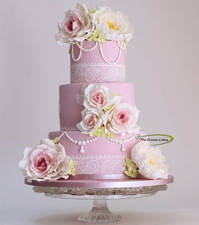 Photo of light pink cake