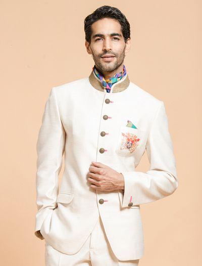Photo of cream jodhpuri suits
