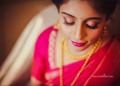 Photo of South Indian subtle bridal eyes makeup