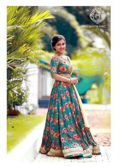 Photo of floral print lehenga