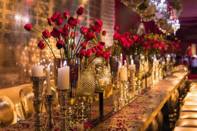 Photo of table centerpiece