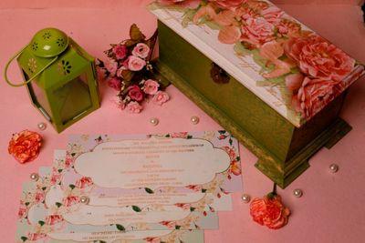 Photo of Pretty floral wedding invitation