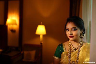 Photo of pretty bridal portrait